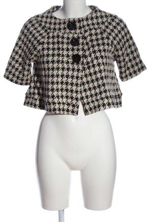 Zara Bolero schwarz-weiß Allover-Druck Casual-Look