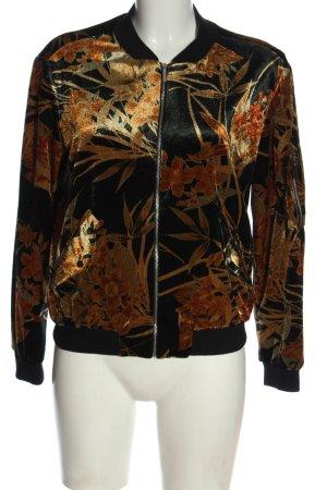 Zara Bomberjack zwart-licht Oranje volledige print casual uitstraling