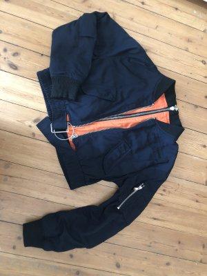 Zara Bomberjacke Blouson Biker Top Crop Jacke