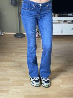 Zara Vaquero de corte bota azul