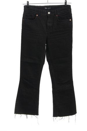 Zara Boot Cut Jeans schwarz Casual-Look