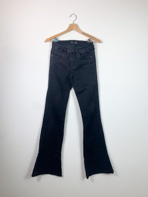 Zara Jeansy o kroju boot cut czarny