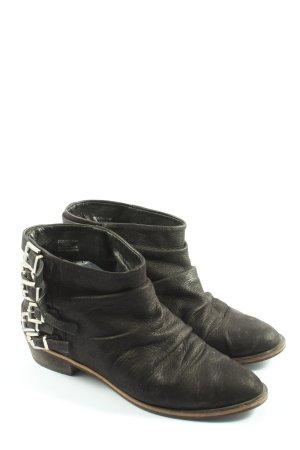 Zara Booties schwarz Casual-Look