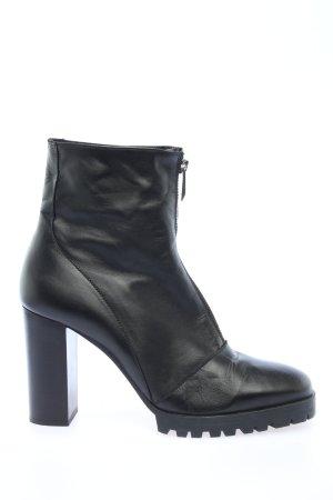 Zara Booties schwarz Business-Look