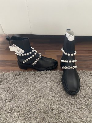 Zara Booties 37 mit Perlen