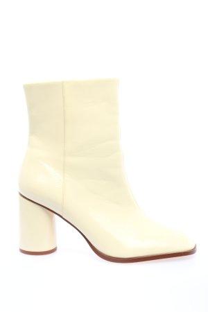 Zara Booties wollweiß Business-Look