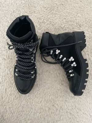 Zara Snow Boots silver-colored-black leather
