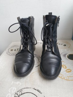 Zara Woman Botas de tobillo negro