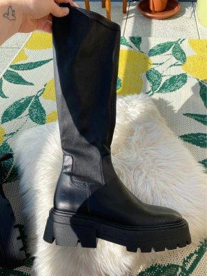 Zara Plateauzool Laarzen zwart