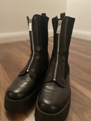 Zara Woman Botas del desierto negro