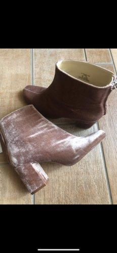 Zara Boots mit Absatz in Wild Leder Optik in Rosa Gr.39 Neu mit Etikett Stiefeletten