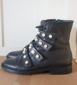zara - Boots mit Perlen - Gr. 38
