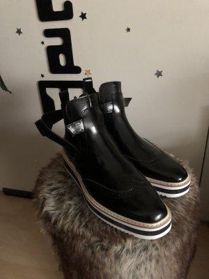 Zara Sztyblety biały-czarny