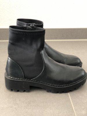 ZARA Boots schwarz Leder 37