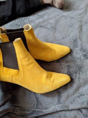 ZARA Boots Senf Gelb