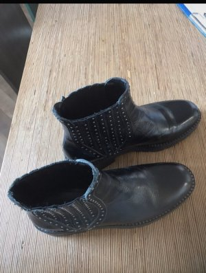 Zara boots stiefel schwarz echtes Leder