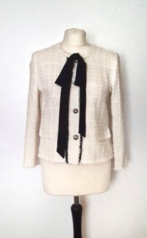 Zara Tweed Blazer black-natural white