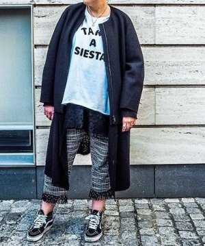 Zara Boucle Hose L XL 40 42 44 Schwarz Weiß Culotte 7/8 Hose Stoffhose Chanel Blogger Style