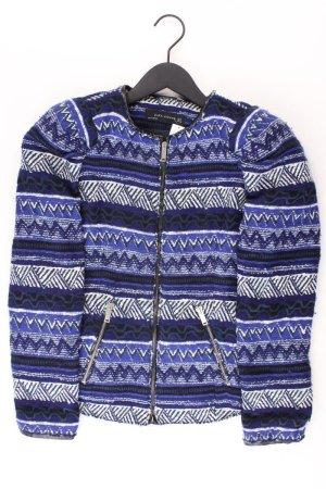 Zara Bouclé Jacke Größe M blau aus Polyester