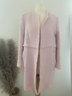 Zara Boucle Mantel rosa Gr. M