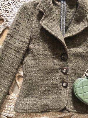 Zara Boucleé Tweed Blazer 38 M