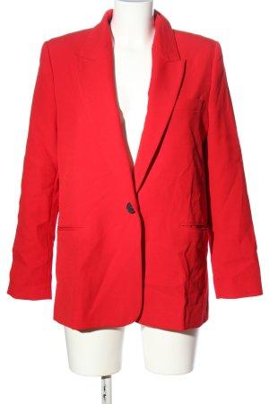 Zara Boyfriend blazer rood zakelijke stijl