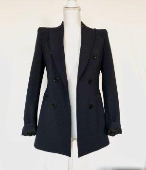 Zara Boyfriend Blazer XS 34 Marineblau