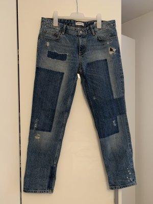 Zara Jeans boyfriend bleu azur-bleu foncé