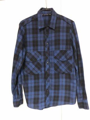 Zara Koszula w kratę czarny-niebieski