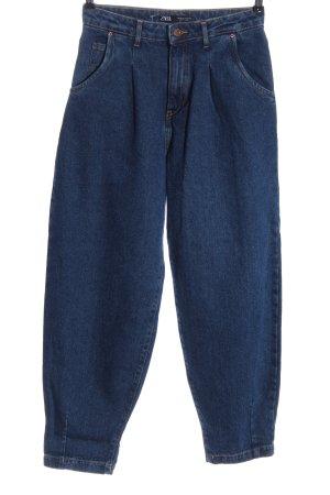 Zara Jeansy typu boyfriend niebieski W stylu casual