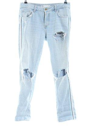 Zara Boyfriend jeans blauw casual uitstraling