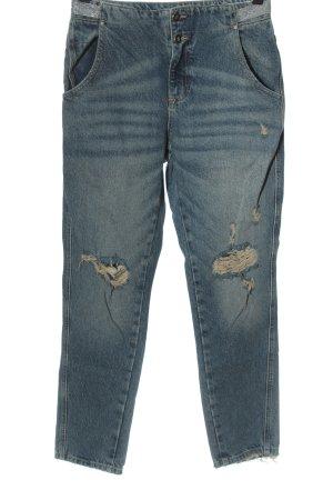 Zara Boyfriend Jeans blue casual look