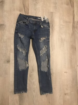 Zara Women Jeans boyfriend bleu