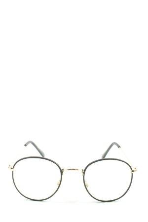 Zara Gafas negro-color oro look casual