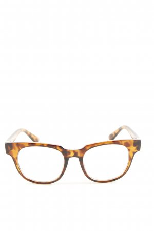 Zara Bril bruin-licht Oranje luipaardprint casual uitstraling