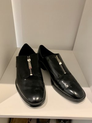 Zara Trafaluc Wingtip Shoes black-silver-colored