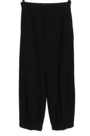 Zara Bandplooibroek zwart casual uitstraling
