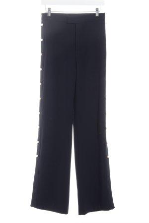 Zara Bundfaltenhose dunkelblau Elegant