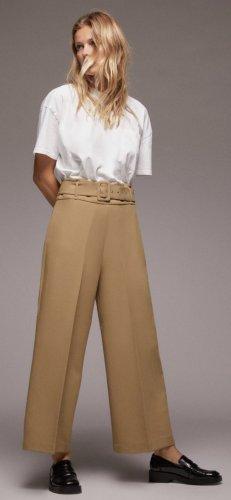 Zara Bundfaltenhose gr xs beige neu mit Etikett