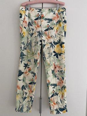 Zara Basic Pantalon 7/8 multicolore coton
