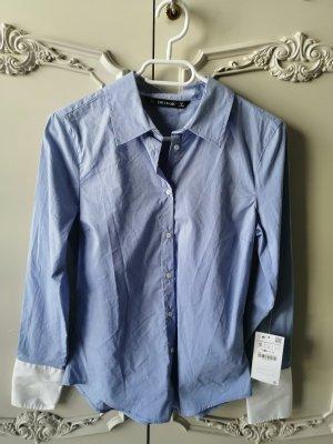 Zara Business Bluse in blau // Neu mit Etikett