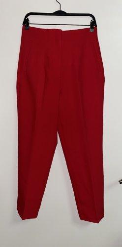Zara Peg Top Trousers dark red
