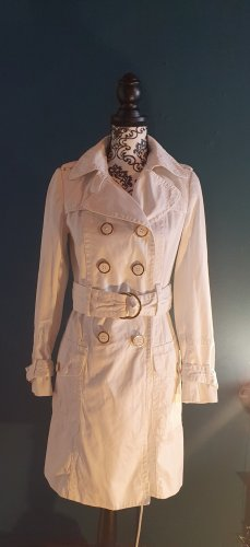 Zara Business Trenchcoat weiß Gr. S/XS