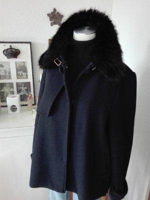 Zara Marynarska kurtka czarny-ciemnoniebieski