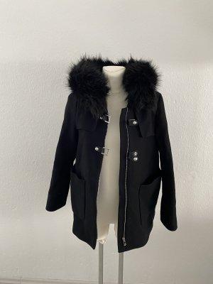 Zara Woman Pea Jacket black