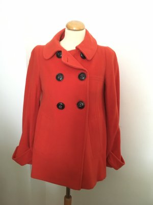 Zara Giacca di lana arancione scuro-rosso mattone Lana