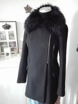 Zara Heavy Pea Coat black