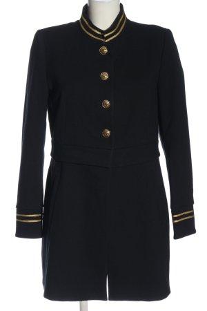 Zara Marynarski płaszcz czarny W stylu biznesowym