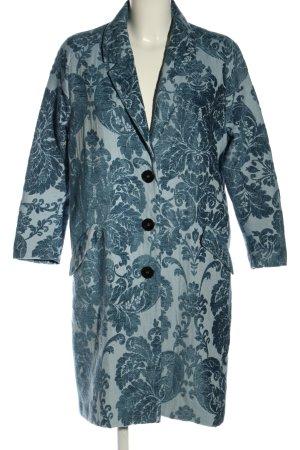 Zara Cabanmantel blau Blumenmuster Casual-Look