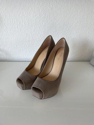 Zara Camel Wild Leder High Heels!